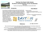 Tutoring in the Dayton Public Schools: The Norms and the Disparities of Inner City Education. A Service Learning Project of the Sophomore Social Justice Cohort