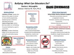 Research exercise: Preventing Bullying: What Can Educators Do?