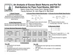 An Analysis of Excess Stock Returns and Fat Tail Distributions for Flyer Fund Stocks in the Volatile Market Period of 2007 - 2011 by George S. Cressy, Conor Flynn, and Corey R. Pryor