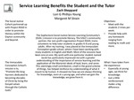 Service Learning Benefits the Student and the Tutor