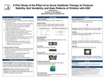 A Pilot Study of the Effect of an Acute Vestibular Therapy on Postural Stability, Gait Variability, and Gaze Patterns of Children with ASD by Senia I. Smoot