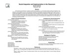 Research exercise: Social Integration and Implementation in the Classroom