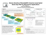 Barium Strontium Titanate Varactor-Tuned Spiral Bandstop Filter for Microwave Applications by Hailing Yue