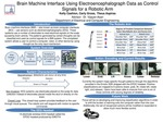 Brain Machine Interface Using Electroencephalograph Data as Control Signals for a Robotic Arm