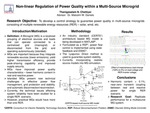 Non-linear regulation of power quality within a microgrid consisting of multiple distributed generators (solar, wind, etc.)