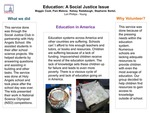 Education in Dayton; A Social Justice Service Club Project