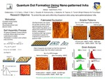 Research exercise: Quantum Dot Formation Using Nano-patterned Planar InAs