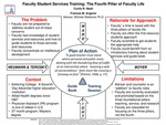 Research exercise: Faculty Student Services Training: The Fourth Pillar of Faculty Life