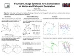 Four-bar Linkage Synthesis for A Combination of Motion and Path-point Generation