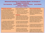 Behavioral Activation in a Homeless Shelter: An Example of Engaged Scholarship by Zach Glending, Christine Farmer, Jessalyn Crossman, Jacob DeBellis, and Stephanie Rodriguez