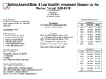 Research exercise: Betting Against Beta: A Low Volatility Investment Strategy for Market Period 2008-2012