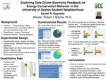 Exploring Data-Driven Electricity Feedback on Energy Conservation Behavior in the University of Dayton Student Neighborhood