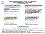 Research exercise: Reading Interventions in Relation to the Ohio Third Grade Guarantee