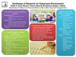 Research exercise: Research on Aspects of the Classroom Environment in P-12 Schools on Student Learning