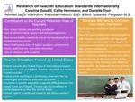 Research exercise: Research on the Effect that Teacher Education Standards have on Teacher Formation in the United States and Finland