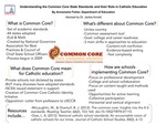 Research exercise: Understanding the Common Core State Standards and their Role in Catholic Education