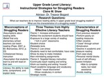 Upper Grade Level Literacy: Instructional Strategies for Struggling Readers