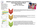 Research exercise: Utilization of the Gordon Music Learning Theory in Elementary Classroom Music