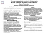 Research exercise: Animal-Assisted Intervention in Children with Autism Spectrum Disorder: A Critical Review
