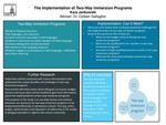 Research exercise: The Implementation of Two-way Immersion Programs in Schools