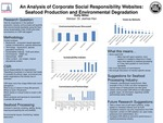 An Analysis of Corporate Social Responsibility Websites: Seafood Production and Environmental Degradation by Kelly Miller