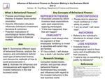 Influence of Behavioral Finance on Decision Making in the Business World
