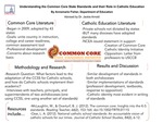 Understanding the Role of the Common Core State Standards in Catholic Education