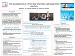Research exercise: The Development of a First Year Chemistry Laboratory by Leslie M. Porter