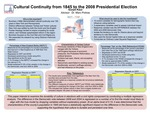 Cultural Continuity from 1845 to the 2008 Presidential Election