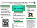 Development of an Evidence-Based Strength Training Program for Individuals with Dementia Participating in Adult Day Services