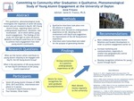 Committing to Community after Graduation: A Qualitative, Phenomenological Study of Young Alumni Engagement at the University of Dayton