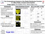 The computational analysis of the radial distribution function in a many body, Lennard Jones system