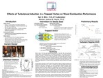 Effects of Turbulence Induction in a Trapped Vortex on Wood Combustion Performance