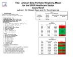 A Smart Beta Portfolio Model fo the SPDR Healthcare Sector: An Empirical Analysis, 2009-2017