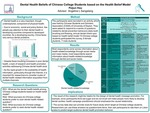 Dental Health Beliefs of Chinese College Student based on the Health Belief Model