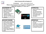 Cluster Computing with the  Raspberry PI