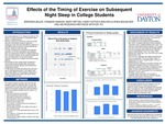 Effects of the Timing of Exercise on Quality of Night Sleep among College Students