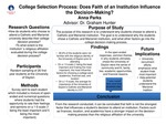 College Selection Process: Does Faith of an Institution Influence the Decision-Making?