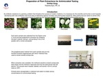 Microbial Resistance to Traditionally Medicinal Plant Extracts