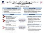 Impact of a Catholic and Marianist University Experience on Career and Education