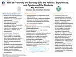 Risk in Fraternity and Sorority Life: the Policies, Experiences, and Opinions of the Students