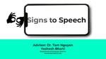 Signs to Speech