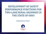 Development of Safety Performance Functions for Two-Lane Rural Highways in the State of Ohio
