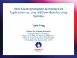 Fiber Scanning Imaging Techniques for Applications in Laser Additive Manufacturing Systems