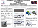 Automated Design of Truss-Based Mechanical Components Using Topology Optimization
