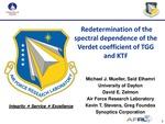 Redetermination of the Spectral Dependence of the Verdet Coefficients of Terbium Gallium Garnet and Potassium Terbium Fluoride
