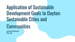 Application of Sustainable Development Goals to Dayton: Sustainable Cities and Communities