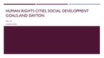 Human Rights Cities, Social Development Goals, and Dayton