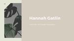 Hannah Gatlin-Artist Talk