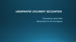 Underwater Document Recognition